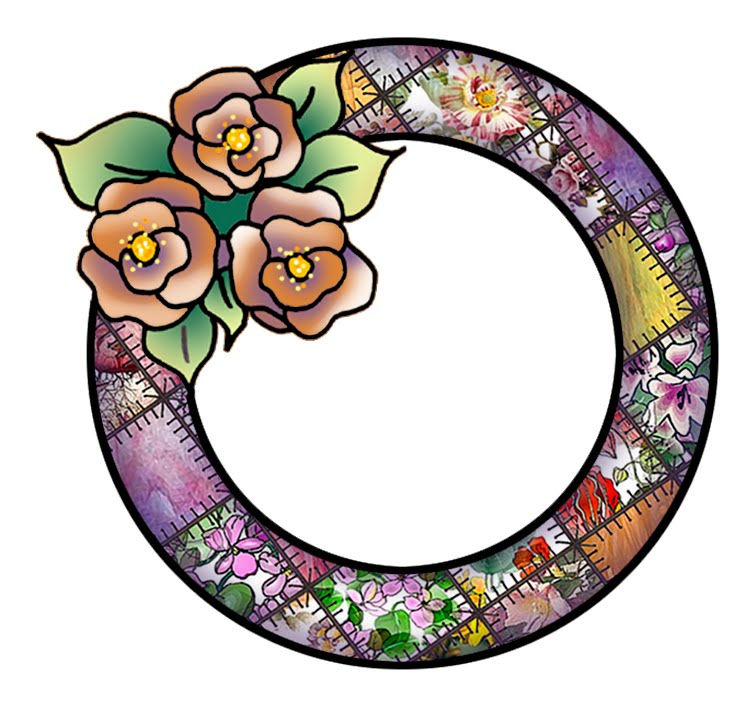 ArtbyJean - Frames: Round frames with Roses.