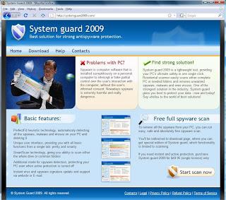 System Guard 2009 Spyware FakeAV