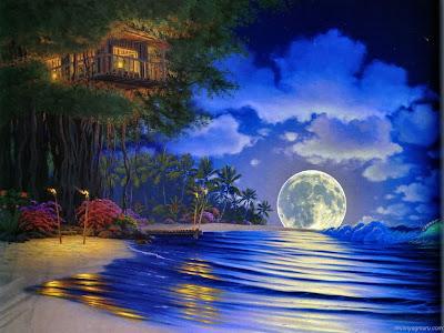 Deniz kenarı manzarası duvar tablosu çizimi 2011 sahil manzaralı