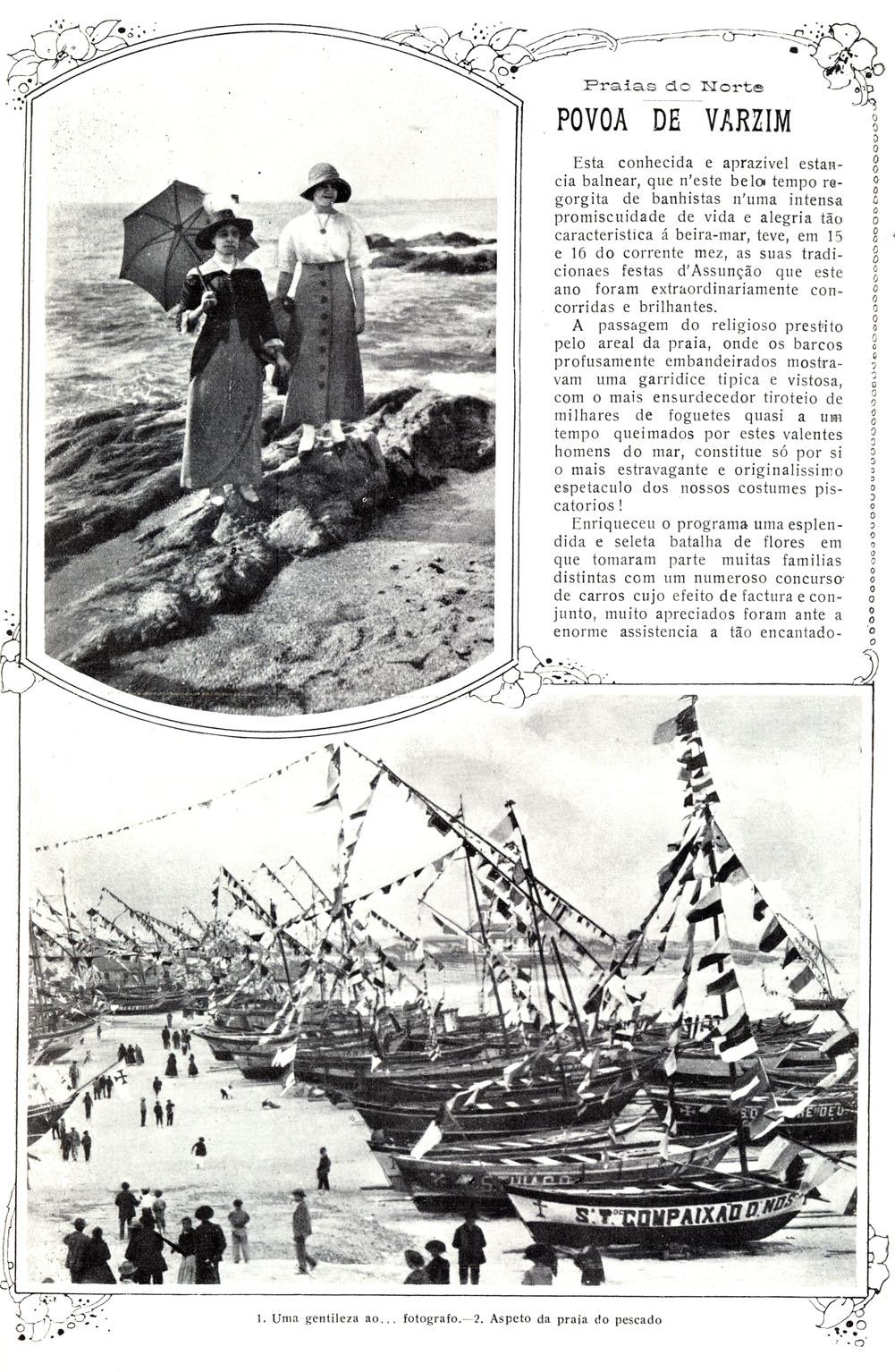 Festas de Nossa Senhora da Assunção, Póvoa de Varzim; Ilustração Portuguesa, Agosto de 1915