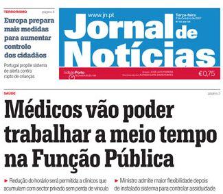 Jornal de Notícias de 2/10/2007