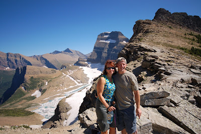 The hike up to Grinnell Glacier overlook from Logan pass is long, but well worth the view