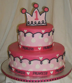 Cheap Princess 1st Birthday Cakes