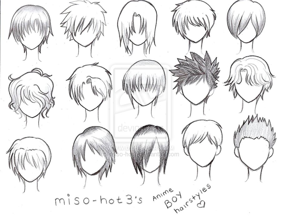 anime boy. Anime boy hairstyles