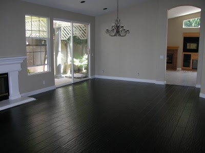 Woodworking: Black stains on wood flooring, nail holes, wood flooring