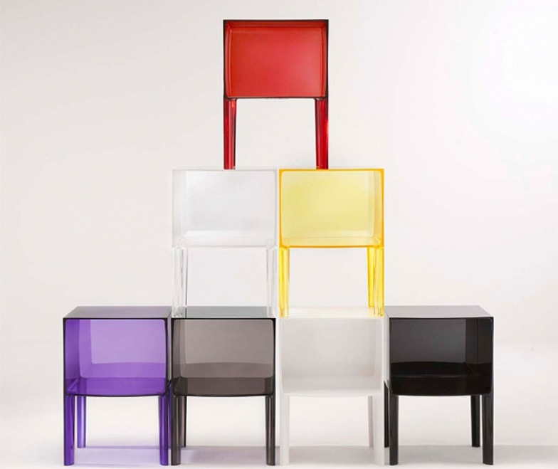Modern interior design small ghost buster nightstand from kartell all colors - Contemporary side tables with storage ...