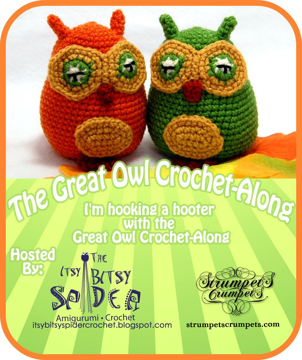 The Itsy Bitsy Spider Crochet: The Great Owl Crochet-Along