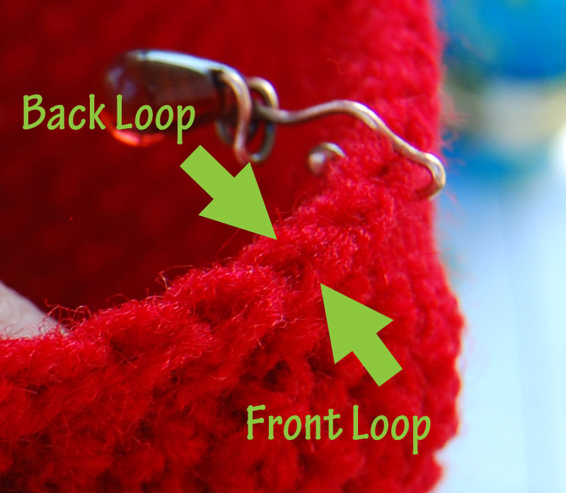 Crochet Stitch Invisible Decrease : To begin an invisible decrease, poke your hook through the front loop ...