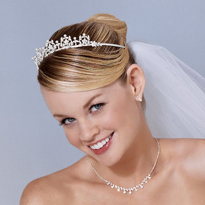 A very popular hairstyle for a wedding is an up do