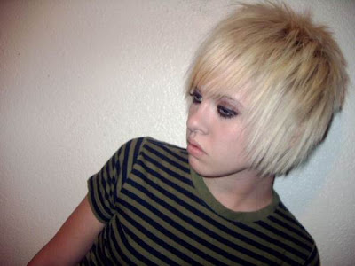 Blonde Emo Haircut Styles in 2009