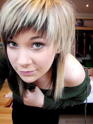 cute girls layered emo hairstyle