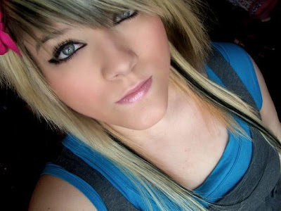 2010 Long Blonde Emo Girl Hairstyle Since scene hairstyles have many common