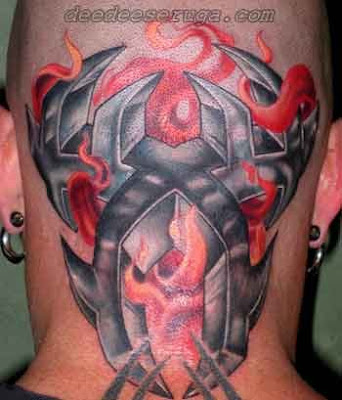 Flaming tribal tattoos