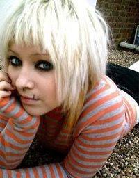 Cute short blonde emo hair