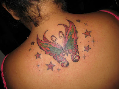 Upper Back Butterfly tattoo Free Upper Back tattoo design