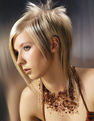 hot sleek straight funky hairstyle for women