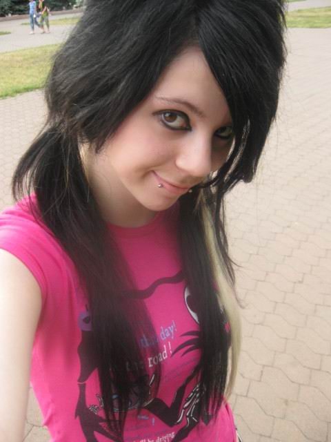 Emo Hairstyle Look
