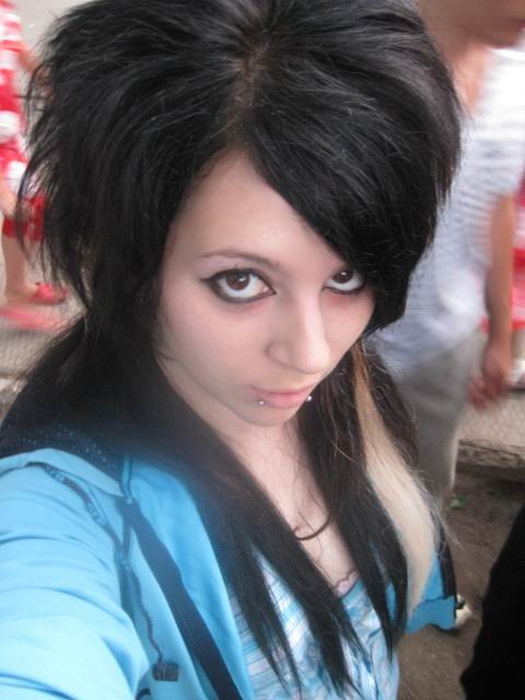 emo scene hairstyles for girls. tattoo Emo Scene Girls
