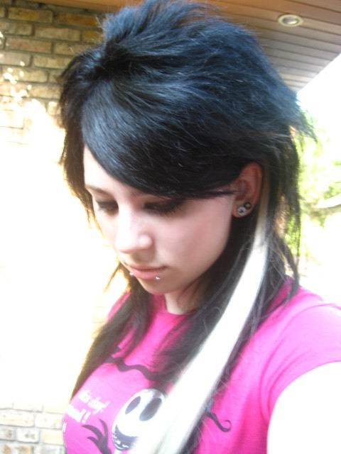 Latest Long Emo Scene Hairstyle For Girls