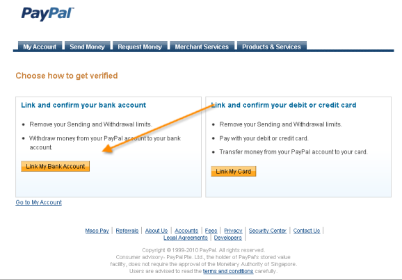 paypal account verification