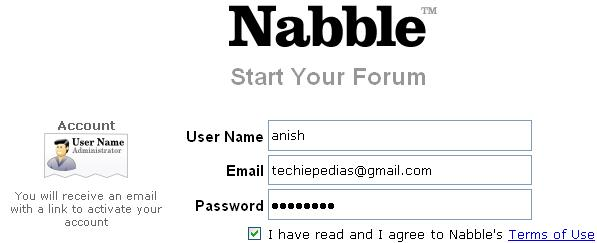 nabble registration