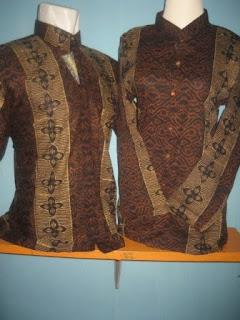 Gambar Foto Baju Busana Batik Modern Pasangan 2010 Ayah Ibu Pria Wanita Murah Grosir Rumah Islami 2010 Tanah Abang