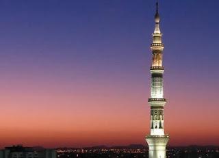 FOTO Menara Mesjid Nabi Madinah Al Munawaroh - Kisah Bilal Muadzin