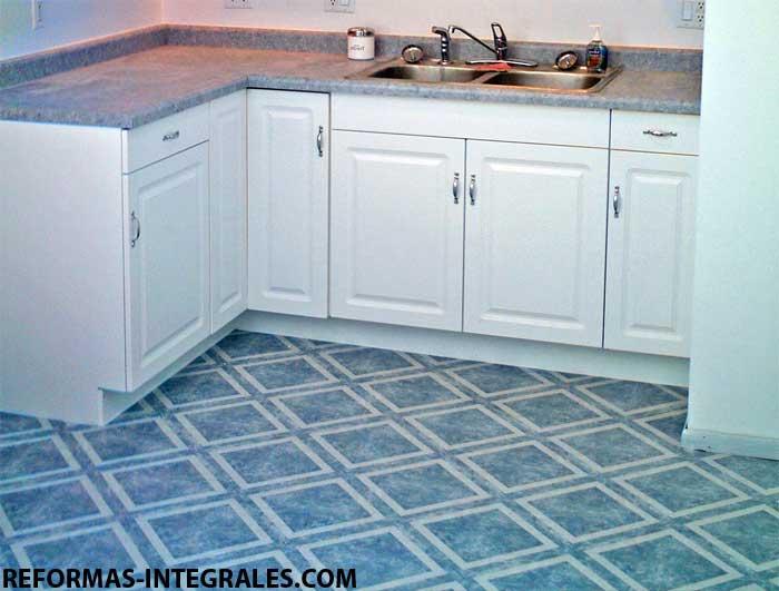 Suelos vinilicos vinilo cocina reformas cocinas barcelona for Azulejos y suelos para cocinas