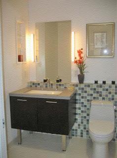 armario baño lavabo y retrete