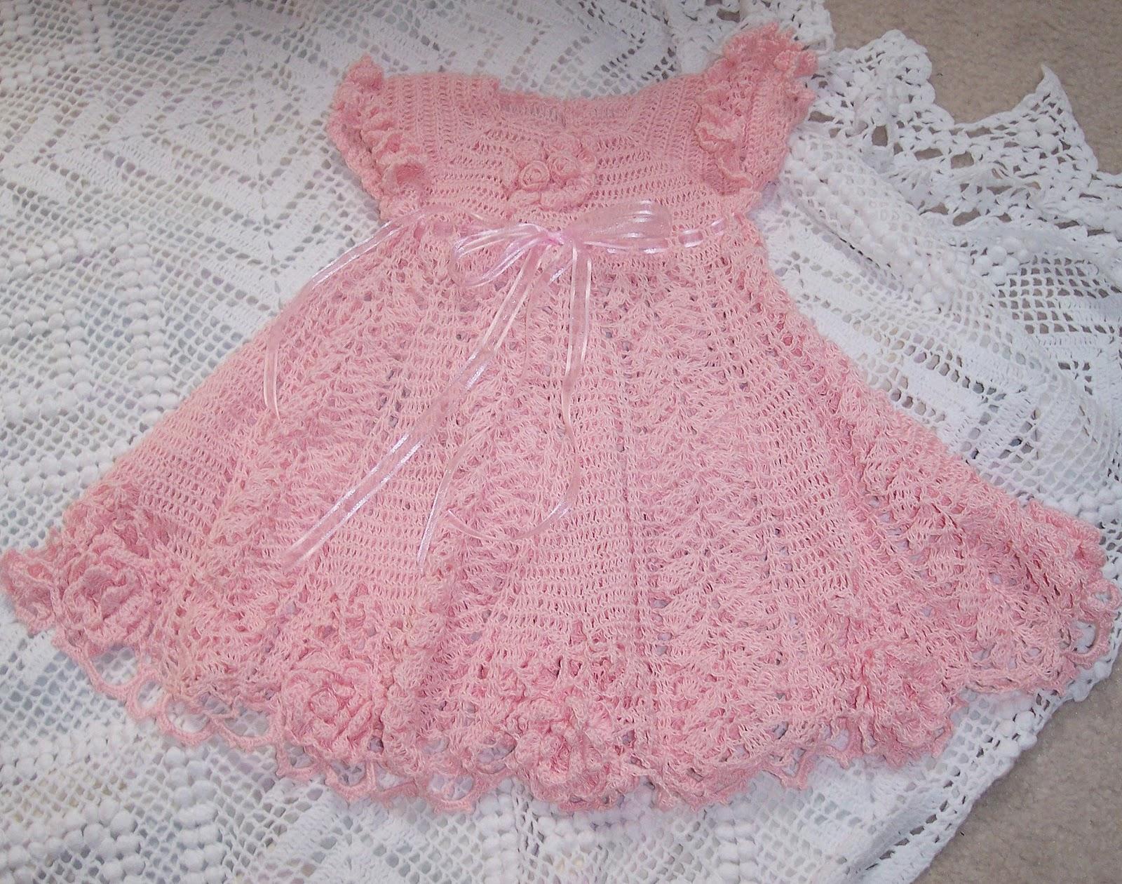 Vestidos Em Croche Ponto Folha Para Beb