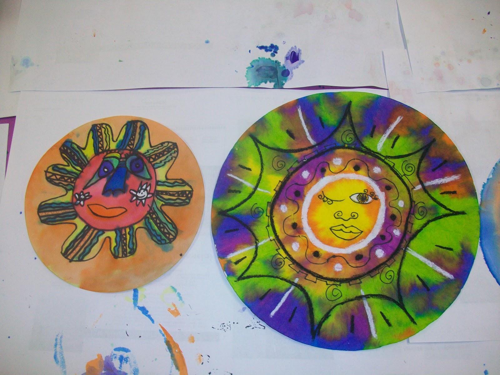 Mexican Sun Art Mexican folk art suns