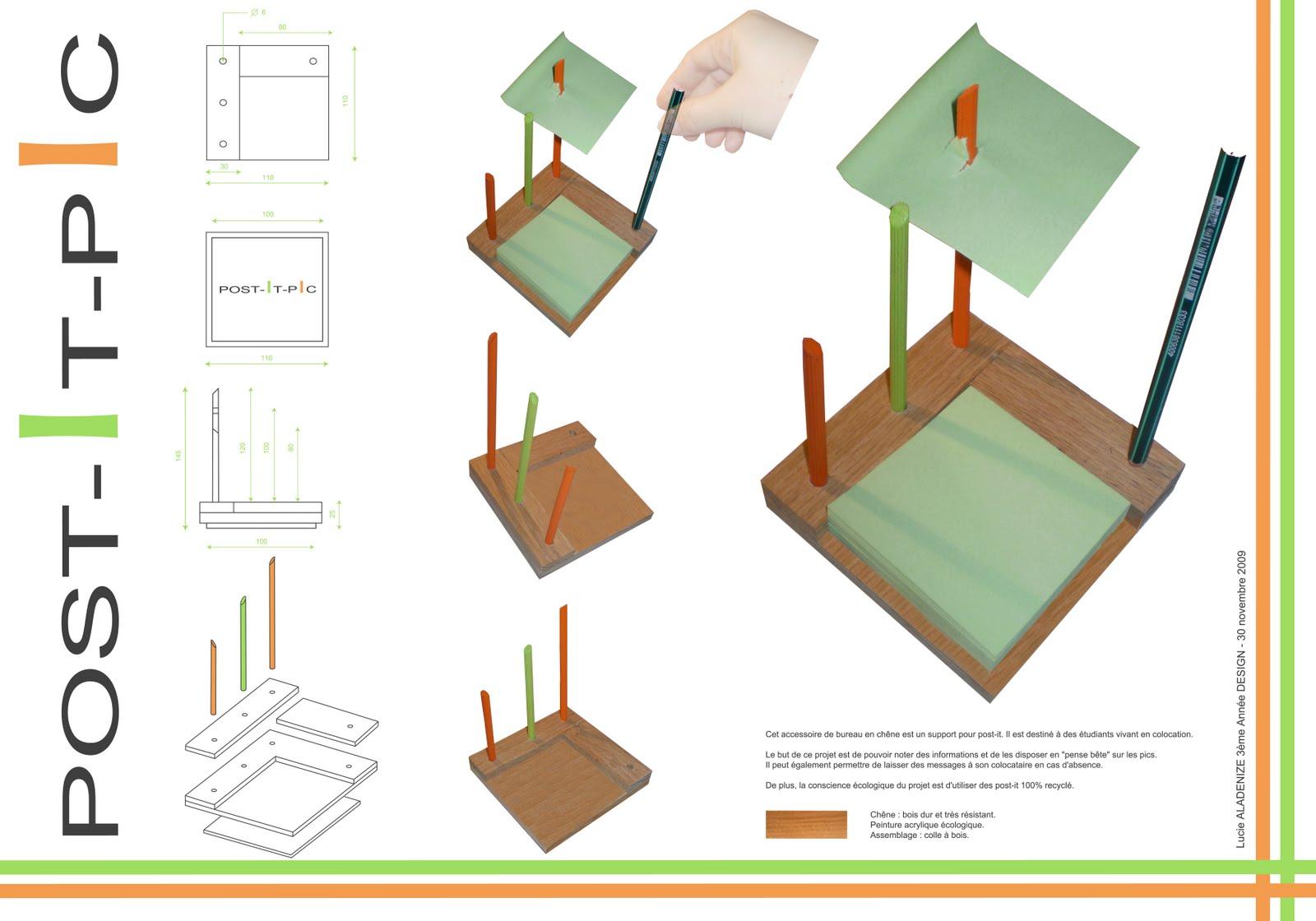 Le design de lucy accessoire de bureau post it pic for Accessoire de restaurant