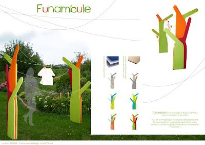 Le design de lucy funambule tendoir linge d 39 ext rieur - Etendoir a linge exterieur original ...