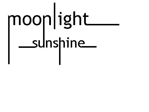 when moonlight fallin love with sunshine