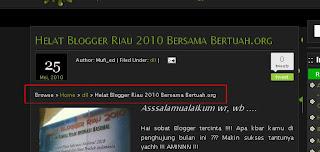 Preview Navigasi Breadcrump | Khamardos's Blog