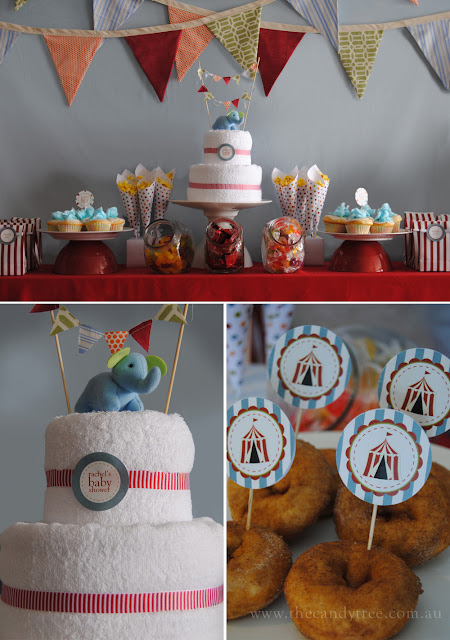 sweet little parties surprise vintage circus baby shower