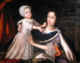 "Mary of Modena and her son the future ""James III of England"""