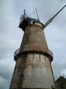 Sutton Corn Mill with the intruiging underpass at its side