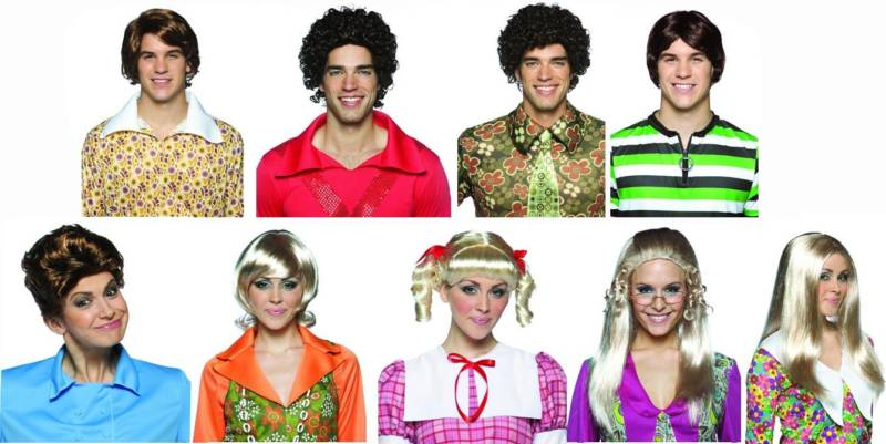 brady bunch halloween costumes wigs