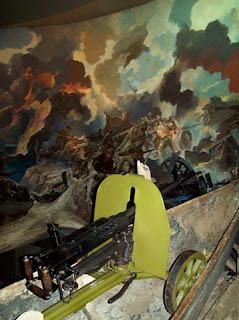 Советский пулемет в экспозиции музея ВОВ