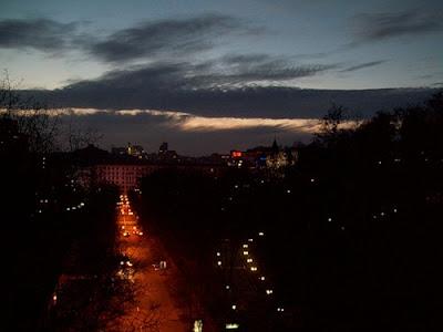 Вечерний вид с Паркового мостика