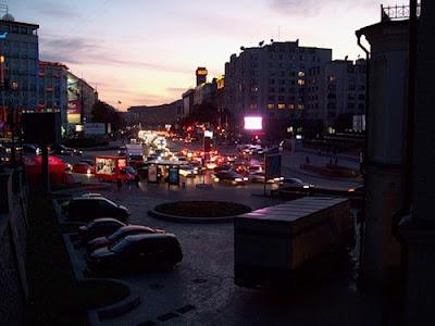 Европейская площадь вечером
