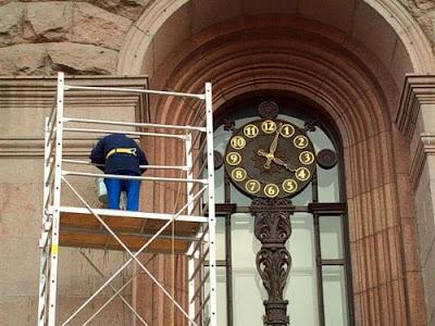 Часы на киевской мэрии