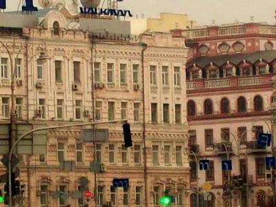 Верхние этажи домов в центре Киева