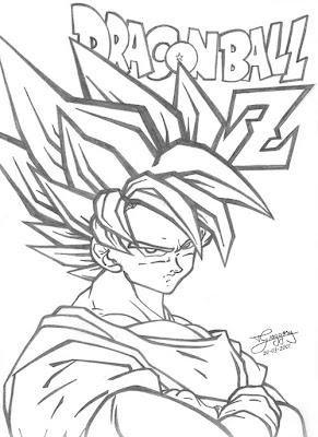 desenhos do thiago greggory goku super sayajin 2