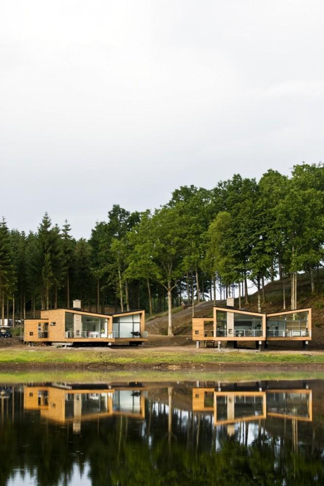Arquitectura al dia casas en el bosque henning larsen - Casitas en el bosque ...