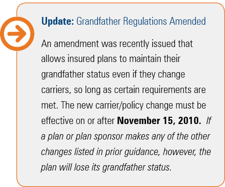 grandfather, regulations, plan, health care,