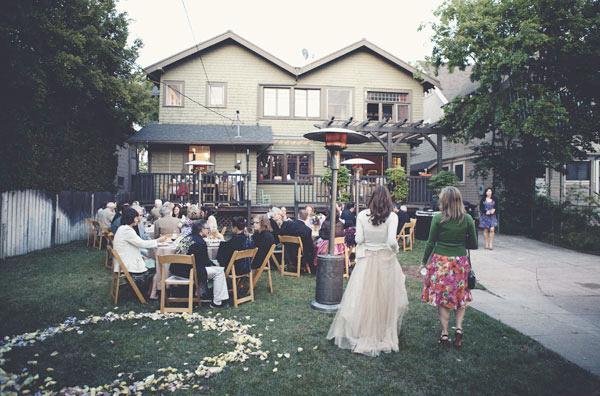 Simple Backyard Wedding Reception Ideas : Love Lamp  Weddingbee