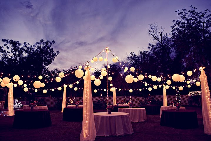 how to light a backyard wedding weddingbee