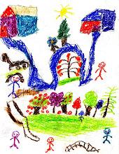 Mi pueblo de la Montaña y mi pueblo de Morelos. Mercedes, 8 años